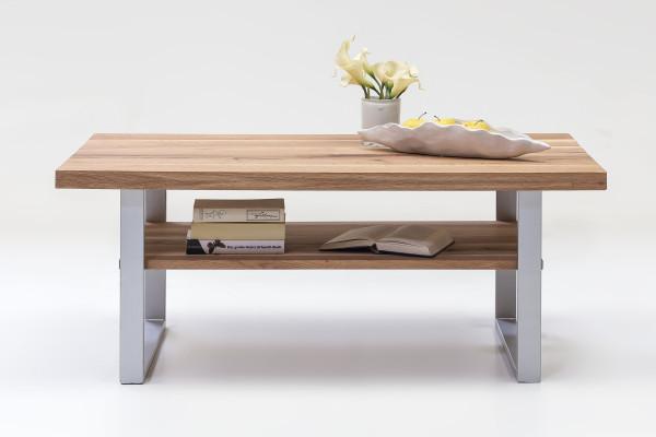 Massiv Eiche - Serie Janik - design - Couchtisch Silber