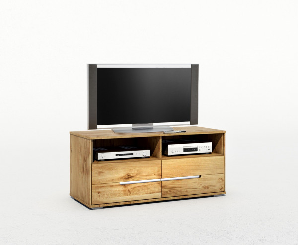 Massiv Eiche - Serie Lena - TV Kommode - Alu Griff design !