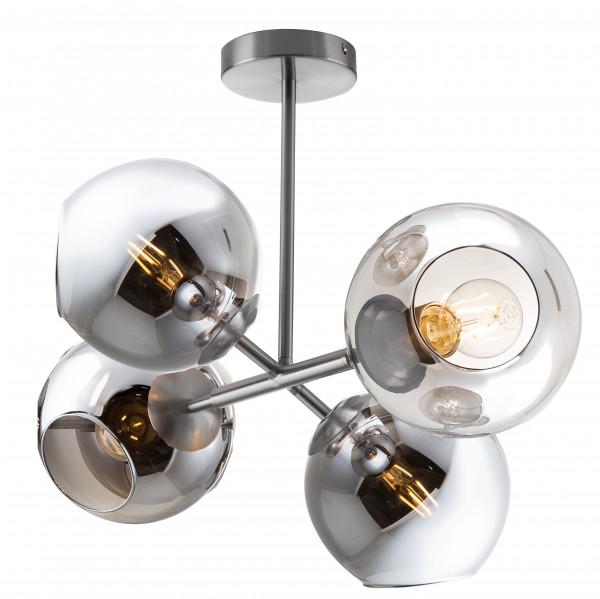 Deckenleuchte - PILARO - Rauchglas Serie - 4 flg