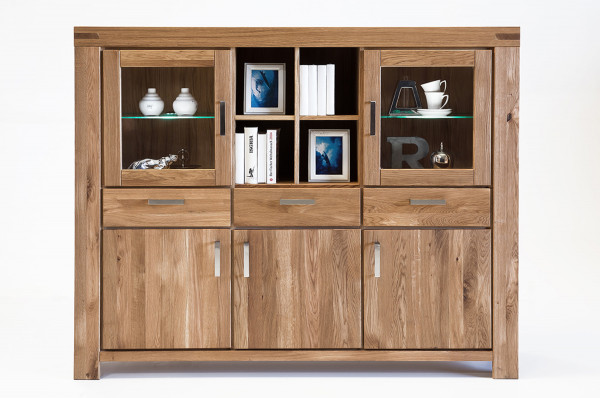 Massiv Eiche - Serie Karina - design - Highboard !