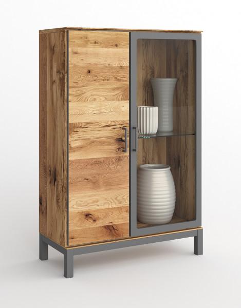 Balkeneiche Furniert - Serie Funda - design -Low Vitrine 3